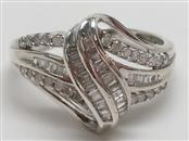 LADY'S DIAMOND FASHION SILVER RING